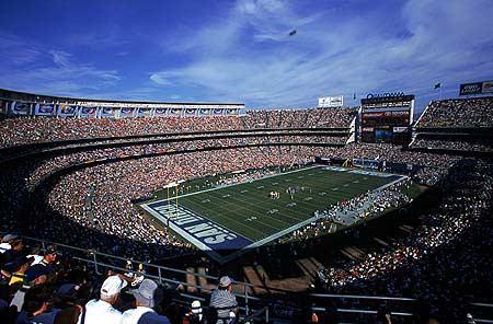 Qualcomm Stadium Nfl Stadiums San Diego Chargers Nfl